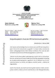 Pressemitteilung vom 5.2.´09 - Joachim Poß