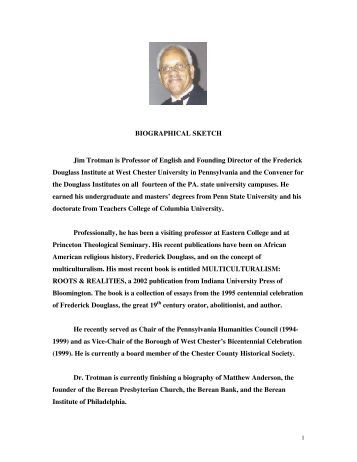 BIOGRAPHICAL SKETCH Jim Trotman is Professor of English and ...