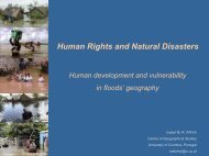 Human Rights and Natural Disasters - Ruhr-Universität Bochum
