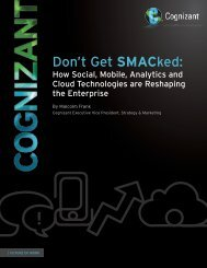 Don't Get SMACked: How Social, Mobile, Analytics and ... - Cognizant