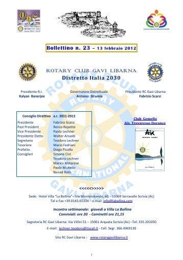 ROTARY CLUB GAVI LIBARNA - Rotary Gavi Libarna