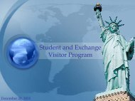 Student and Exchange Visitor Information System (SEVIS)