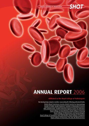 SHOT Report 2006 (pdf) - Serious Hazards of Transfusion