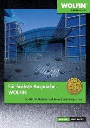 Broschüre - WOLFIN Bautechnik
