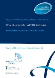 Koulutuspalvelut ARTTU-kunnissa. Paras-ARTTU ... - Kunnat.net
