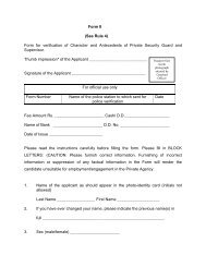 Form II (See Rule 4) Form for verification of Character and ...