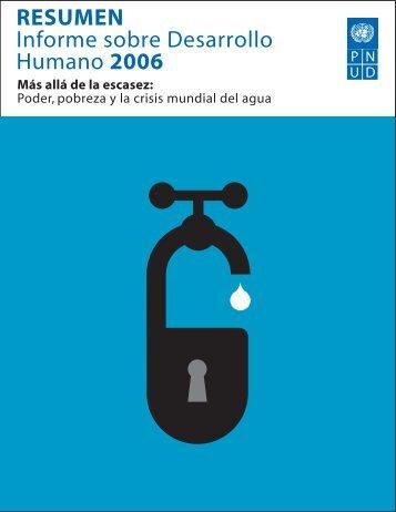 RESUMEN Informe sobre Desarrollo Humano 2006