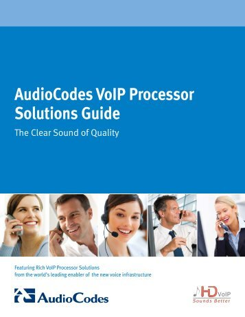 AudioCodes VoIP Processor Solutions Guide