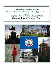 Choosing Your Retirement Plan - Virginia Retirement System