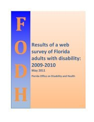 Final Report: A Self Reported Web-based Survey - Florida Office on ...
