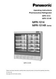 MPR-1014 MPR-1014R Series - Panasonic Biomedical