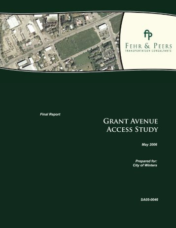 Grant Avenue Access Study - City of Winters