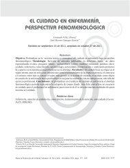 el cuidado en enfermería, perspectiva fenomenológica - Hacia la ...