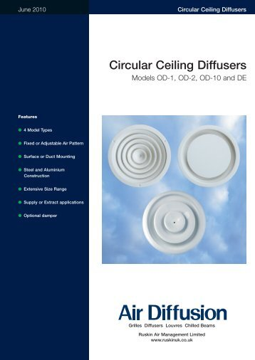 Circular Ceiling Diffusers - Air Diffusion