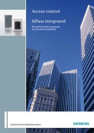 Access control SiPass integrated - Simon Technologies