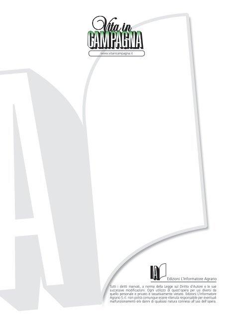 Edizioni L'Informatore Agrario - Vita in Campagna