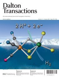 structural and spectroscopic studies of the reaction mechanism