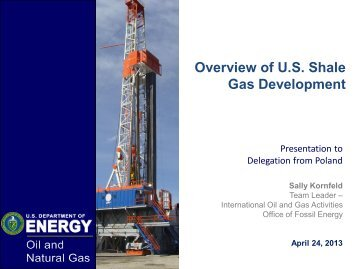 Shale Gas - Sally Kornfeld, U.S. Department of Energy