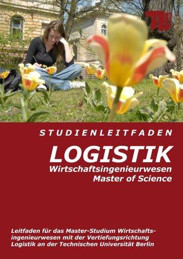 die master-vertiefung logistik - Bereich Logistik - TU Berlin