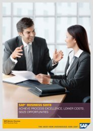SAP® BuSineSS Suite - B4 Consulting
