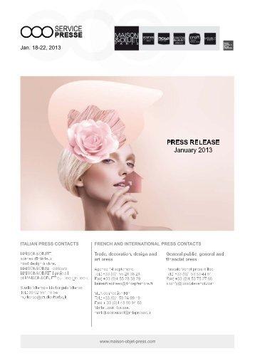 1. trends for spring/summer 2013 - maison-objet-press.com