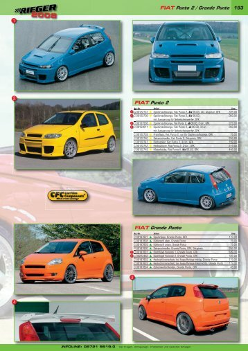 193 FIAT Punto 2 / Grande Punto FIAT Punto 2 FIAT Grande Punto