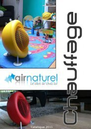 Catalogue chauffage d'appoint - Air Naturel