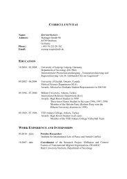 curriculum vitae education work experience and internships