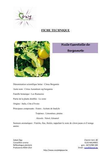 pdf BERGAMOTE - COZY Belgique