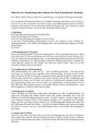 Hinweise zur Ausarbeitung einer Klausur im Fach Systematische ...