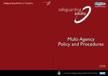 Safeguarding - Multi-Agency Policy and Procedures - NHS Cumbria
