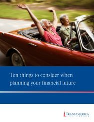 Ten things to consider when planning your financial future