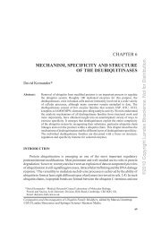 CHAPTER 6 MECHANISM, SPECIFICITY AND STRUCTURE OF ...