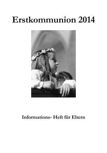 Informations-Heft für Eltern - Seelsorgeeinheit St. Christophorus ...