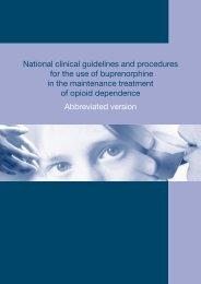 Maintenance treatment - National Drug Strategy
