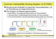 Einschub: Common Vulnerability Scoring System
