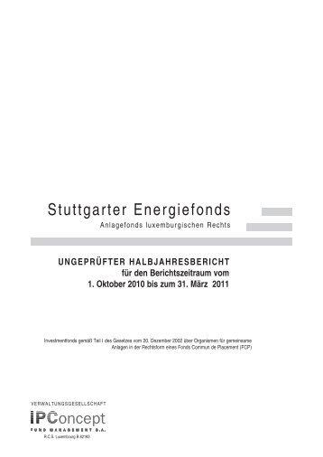 Stuttgarter Energiefonds - Weiler Eberhardt Depotverwaltung AG