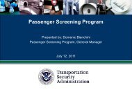 Passenger Screening Program (PSP) - ACConline.org