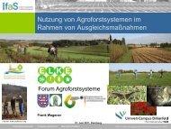 Nutzung von Agroforstsystemen im Rahmen von ... - ELKE