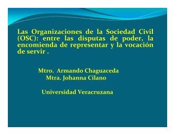 Las Organizaciones de la Sociedad Civil - UV - Universidad ...