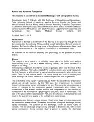 Puerperium Normal & Abnormal - February 2011 - MEDICAL ...