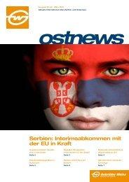 Serbien: Interimsabkommen mit der EU in Kraft