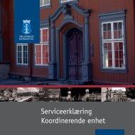Serviceerklæring Koordinerende enhet - Drammen kommune