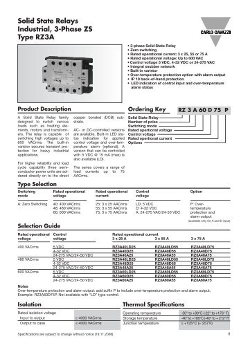 Rm series solid state relays spec sheet durex industries solid state relays industrial 3 phase zs type rz3a sciox Images