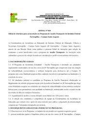Edital 30/2011 - Inscrições no Programa de Auxílio Transporte