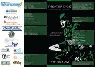 theatertage programm - Theater am Gymnasium in Bayern