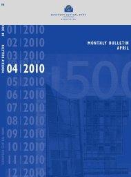 MONTHLY BULLETIN APRIL 2010 - European Central Bank - Europa
