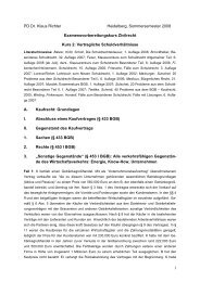 1 PD Dr. Klaus Richter Heidelberg, Sommersemester 2008 ...