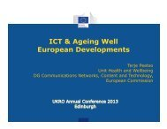 Showcase on Active and Healthy Ageing EIP - UK Research Office