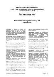Baubeschreibung Torhaus - Mathias Matussek Immobilien